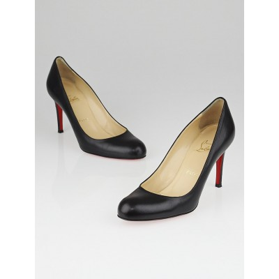 Christian Louboutin Black Leather Simple 85 Pump Size 6.5/37