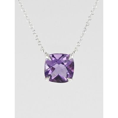 Tiffany & Co. Sterling Silver and Amethyst Sparklers Pendant Necklace