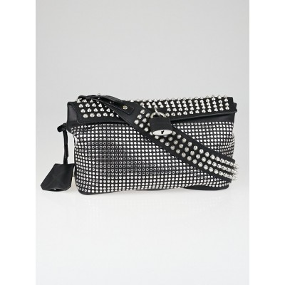 Burberry Black Leather Studded Medium Dalston Shoulder Bag