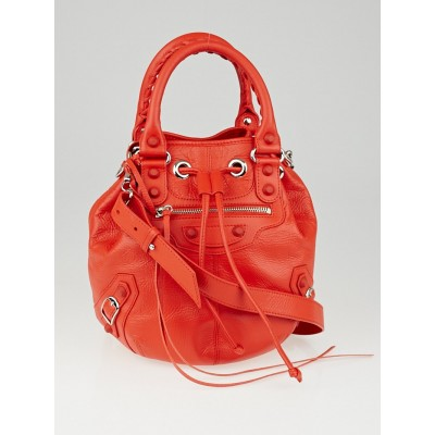 Balenciaga Poppy Chevre Leather Rubber Mini Pompon Bag