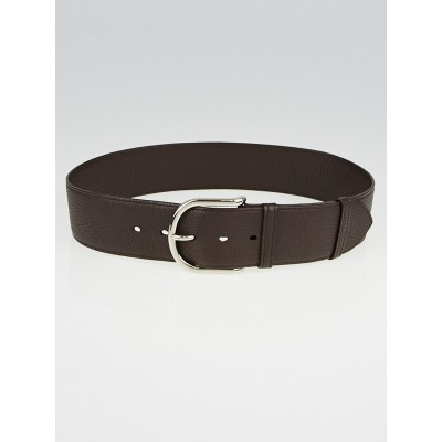 Hermes 50mm Ebene Clemence Leather Rafale Belt Size 75