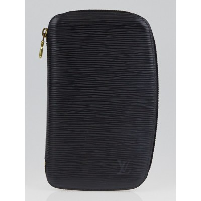 Louis Vuitton Black Epi Leather Geode Organizer Zippy Wallet