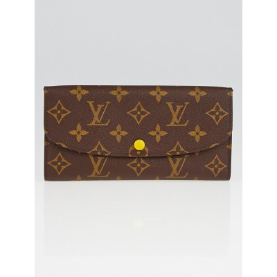 Louis Vuitton Monogram Canvas Mimosa Emilie Wallet