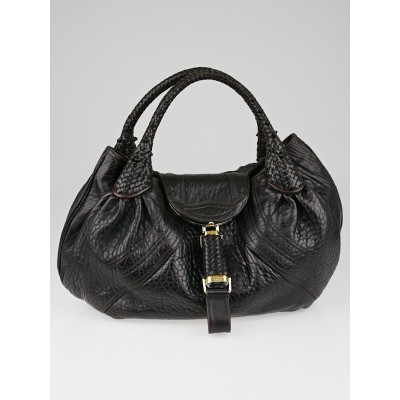 Fendi Dark Brown Nappa Leather Spy Bag
