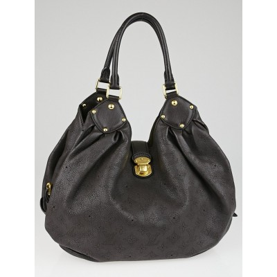 Louis Vuitton Chocolate Monogram Mahina Leather L Bag