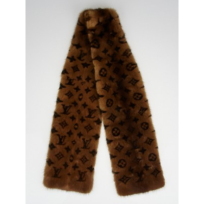 Louis Vuitton Monogram Mink Stole Scarf