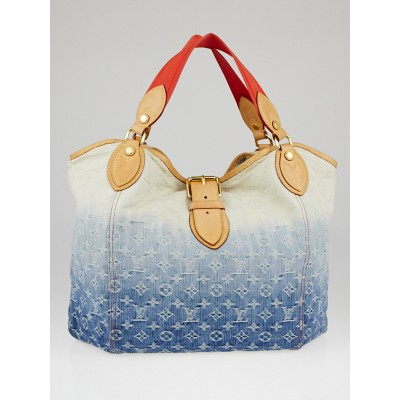 Louis Vuitton Limited Edition Blue Denim Monogram Denim Sunbeam Bag