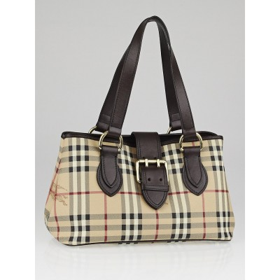 Burberry Haymarket Check Coated Canvas Eden Shoulder Bag