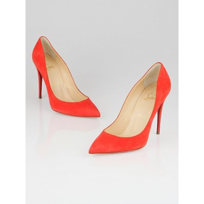 Christian Louboutin Papaye Suede Pigalle Follies 100 Pumps Size 8/38.5