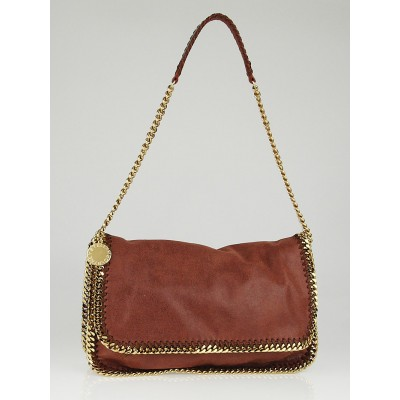 Stella McCartney Maple Shaggy Deer Faux-Leather Falabella Messenger Bag