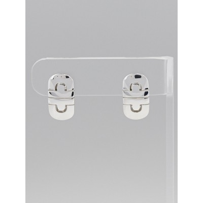 Bvlgari 18k White Gold Parentesi Earrings