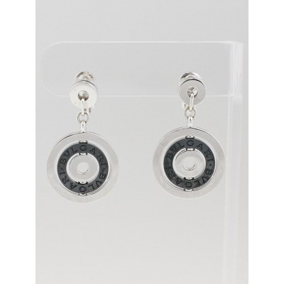 Bvlgari 18k White Gold and Black Onyx Astrale Drop Earrings