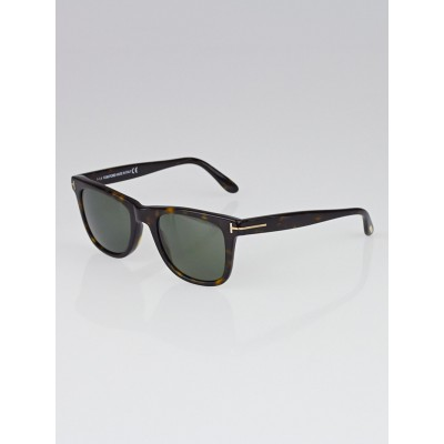 Tom Ford Brown Havana Frame Gradient Tint Leo Sunglasses - TF336