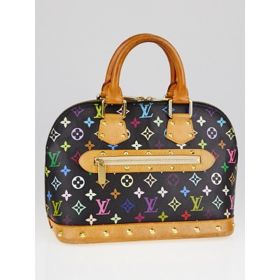 Louis Vuitton Black Monogram Multicolore Alma Bag