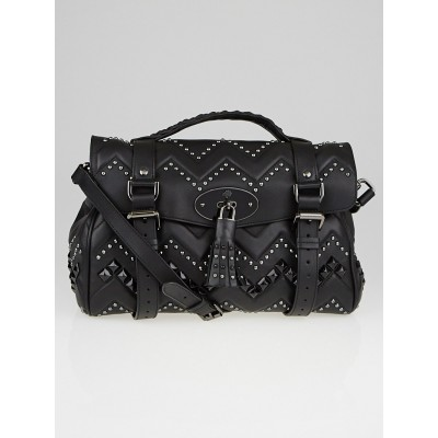 Mulberry Black Leather Smooth Touch Zigzag Alexa Bag
