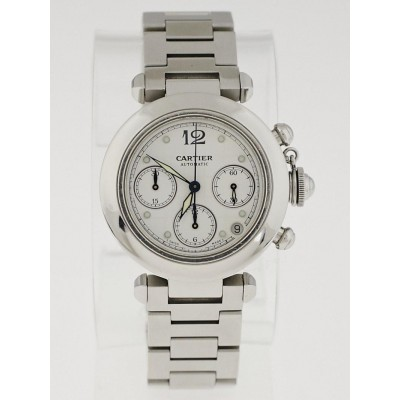 Cartier 38mm Stainless Steel Pasha Chronograph Automatic Watch
