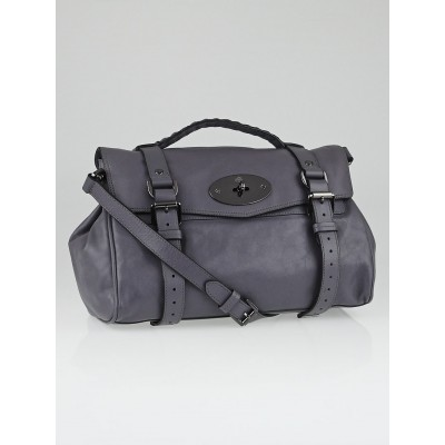 Mulberry Foggy Grey Soft Buffalo Leather Alexa Satchel Bag