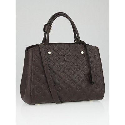 Louis Vuitton Terre Monogram Empreinte Montaigne MM Bag