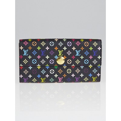 Louis Vuitton Black Monogram Multicolore Grenade Sarah Wallet