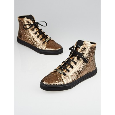 Gucci Copper Glitter California High-Top Sneakers Size 11