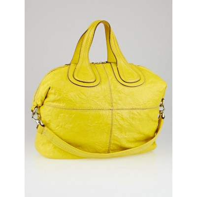 Givenchy Yellow Patent Leather Medium Nightingale Bag