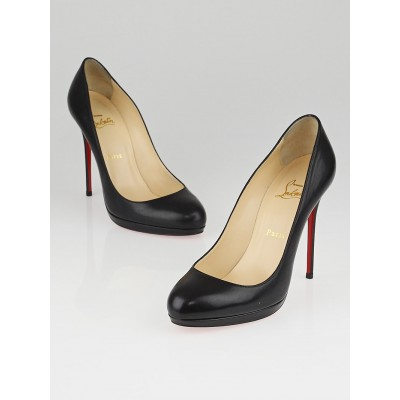 Christian Louboutin Black Leather Filo 120 Pumps Size 9/39.5