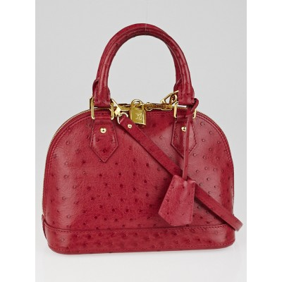 Louis Vuitton Fuchsia Ostrich Leather Alma BB Bag