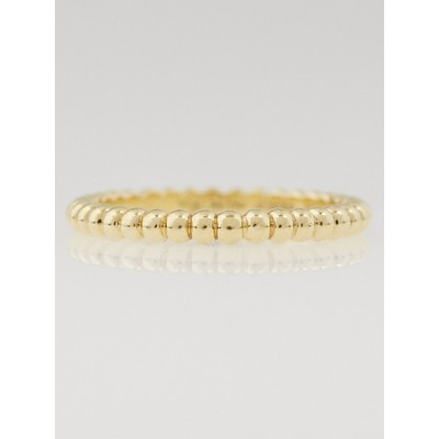 Van Cleef & Arpels 18k Yellow Gold 2.1mm Perlee Ring Size 5.25/50