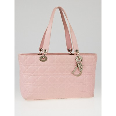 Christian Dior Pink Cannage Quilted Leather Tote Bag