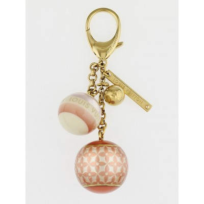 Louis Vuitton Pink Resin Monogram Mini Lin Key Holder and Bag Charm