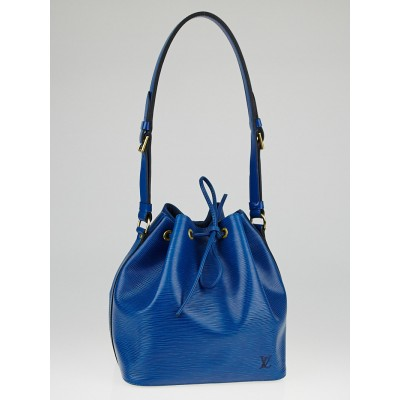 Louis Vuitton Toledo Blue Epi Leather Petit Noe Bag