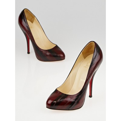 Christian Louboutin Red Eel Skin 120 Pumps Size 5.5/36