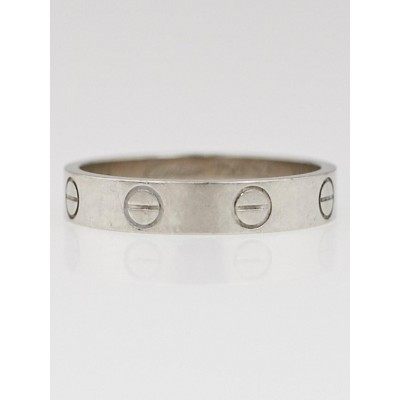 Cartier 18k White Gold LOVE Ring Size 52/6