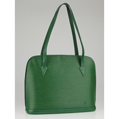 Louis Vuitton Borneo Green Epi Leather Lussac Tote Bag
