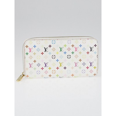 Louis Vuitton White Monogram Multicolore Zippy Wallet