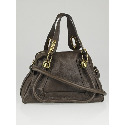 Chloe Rock Pebbled Calfskin Leather Small Paraty Bag
