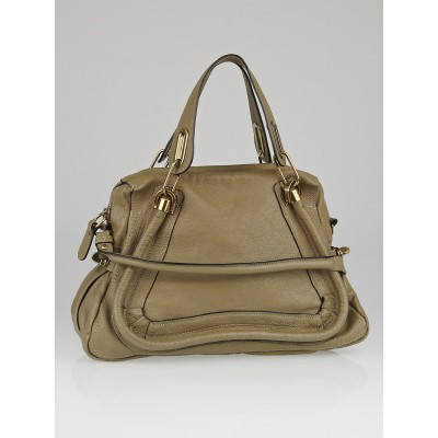 Chloe Mastic Pebbled Leather Medium Paraty Bag