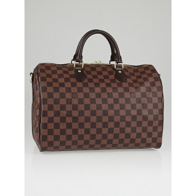 Louis Vuitton Damier Canvas Speedy Bandouliere 35 NM Bag  w/o Strap