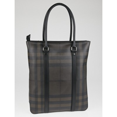 Burberry Smoked Check Coated Canvas Clinton Tote Bag