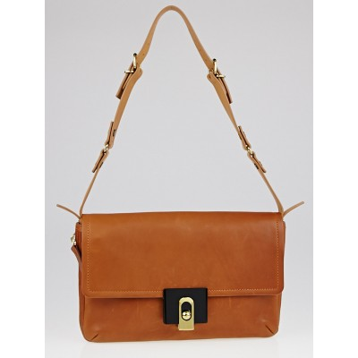 Lanvin Brown Calfskin Leather For Me Flap Bag