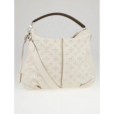 Louis Vuitton White Monogram Mahina Leather Selene PM Bag