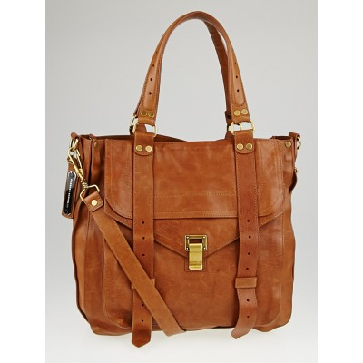 Proenza Schouler Brown Leather PS1 Tote Bag