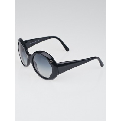 Chanel Black Plastic Round Frame Sunglasses-5154