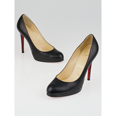 Christian Louboutin Black Leather New Simple 120 Pumps Size 8/38.5