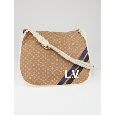 Louis Vuitton Camel Monogram Mini Lin Canvas Initiales Amman Bag