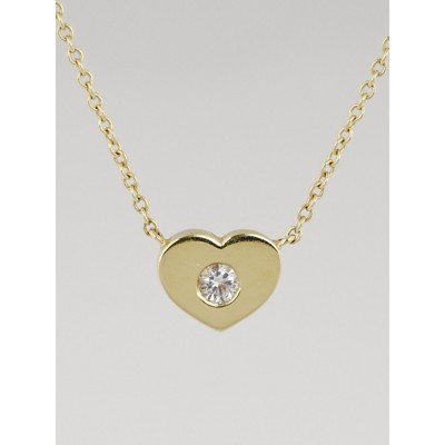 Tiffany & Co. 18k Gold and Diamond Paloma Picasso Modern Heart Pendant Necklace