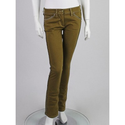 Isabel Marant Olive Green with Piping Marso Jeans Size 6/38