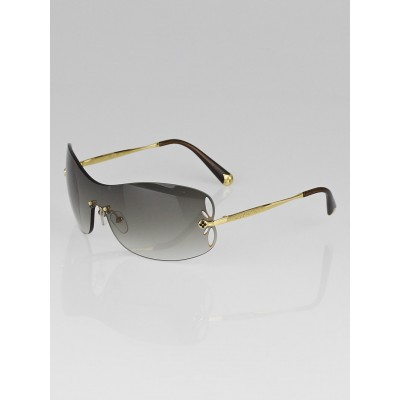 Louis Vuitton Brown/Gold Rimless Metal Lily Mask Sunglasses