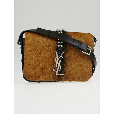 Saint Laurent Naturale Fur Monogramme Shoulder Bag