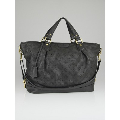 Louis Vuitton Anthracite Mahina Leather Stellar GM Bag